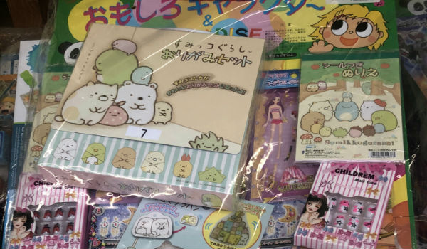 袋に入ったキャラクターイラスト付きのパッケージ