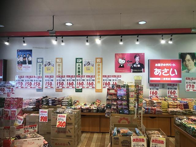 値段と店名が大きく書かれた張り紙と看板