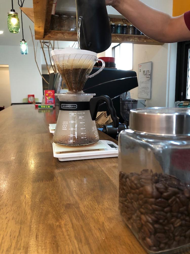 淹れられるコーヒー