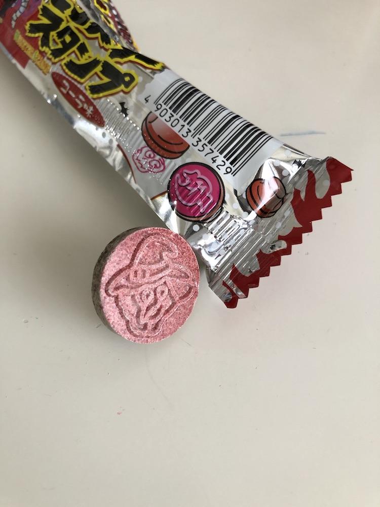 赤い色がついたお菓子