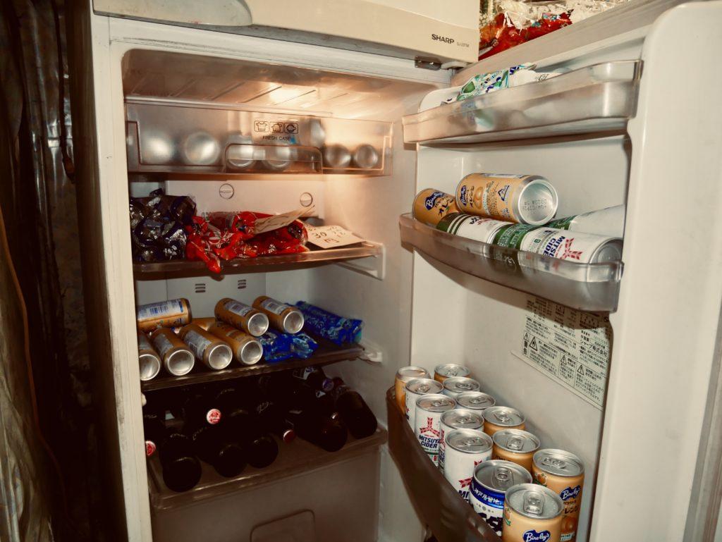 冷蔵庫の中にある飲み物