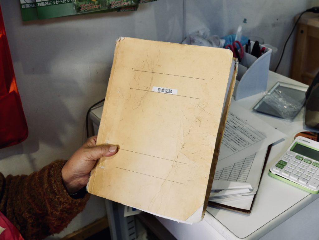 紙を挟むファイル