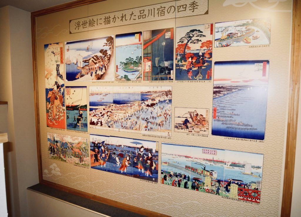 写真が展示された壁